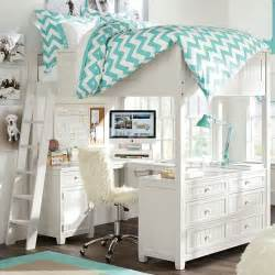 Pottery Barn Loft Bed With Desk by Beadboard Loft Bed Pbteen