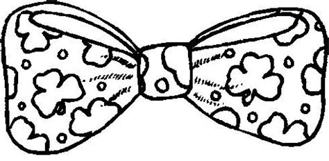 st patricks day bow tie coloring page coloring pages
