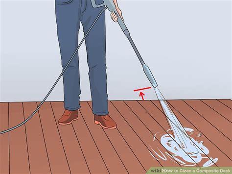 ways  clean  composite deck wikihow