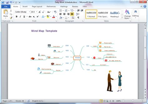 mind map templates  word