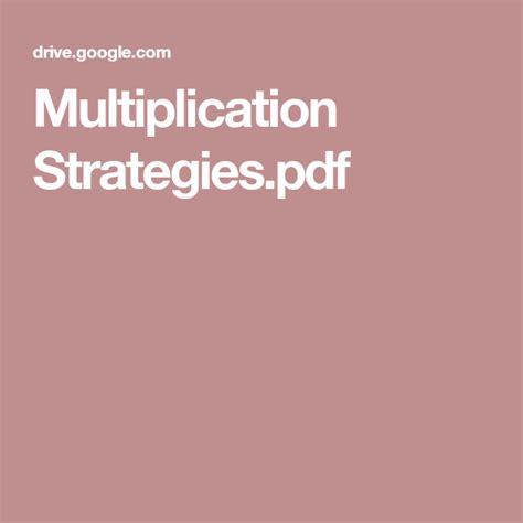 multiplication strategiespdf  images
