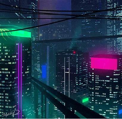 Skeor Tony Neon Noir Digital Aesthetic Grid