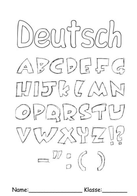 deckblaetter deutsch  deutsch zum ausmalen