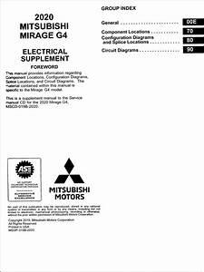 2020 Mitsubishi Mirage G4 Wiring Diagram Manual Original
