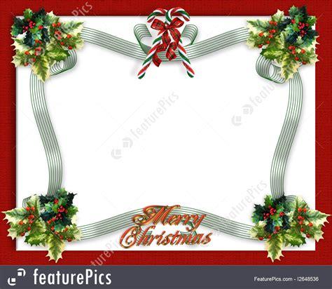 templates christmas border ribbon stock illustration