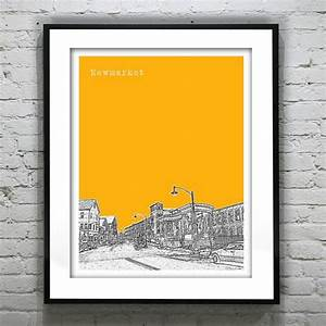 Newmarket New Hampshire Poster Print Art by