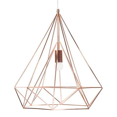 luminaire chambre bebe fille suspension en métal d 45 cm copper maisons du monde