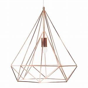 Suspension Industrielle Maison Du Monde : suspension en m tal d 45 cm diamond copper maisons du monde ~ Nature-et-papiers.com Idées de Décoration