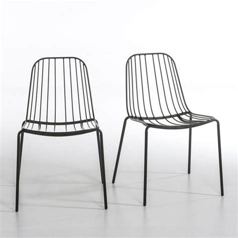 chaise m 233 tal bop lot de 2 noir am pm la redoute