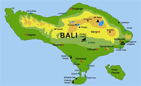 bali tourist locations  airport arrival departure tips