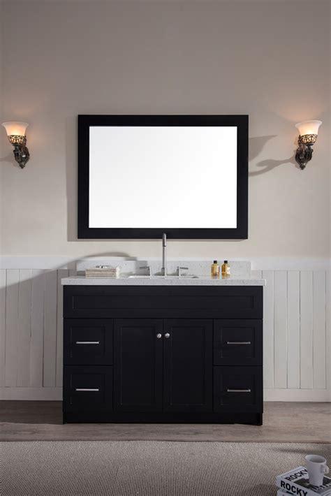 granite kitchen sink ariel hamlet 49 quot single sink vanity set with white quartz 1299