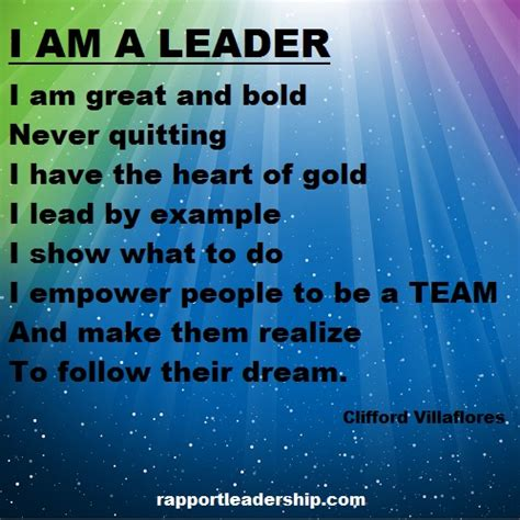 leadership quotes rapport leadership