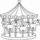 Park Amusement Pages Coloring Colouring Miscellaneous Colour Carnival Printable Getdrawings Getcolorings sketch template