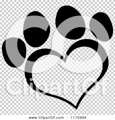 Small Paw Print Tattoo cartoon   black  white heart shaped paw print 450 x 470 · jpeg