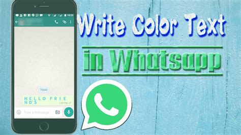 whatsapp color how to write color text in whatsapp