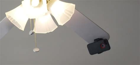hidden cameras in ceiling fans how to take spinning video footage from above with a