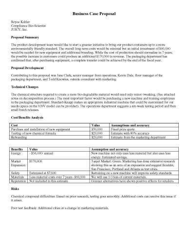 sample proposal templates  microsoft word