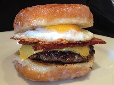 doughnut burger luther burger donut cheeseburger sunday chicken dinner
