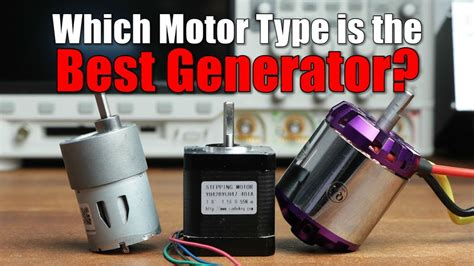 Which Motor Type Is The Best Generator? || Dc, Bldc Or