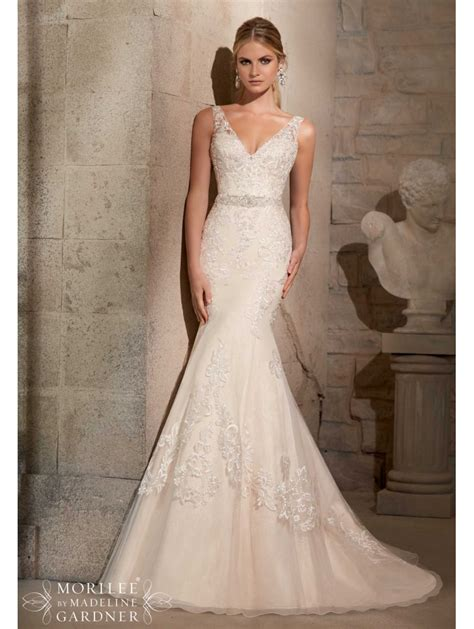 Mori Lee 2715 Mermaid Style Wedding Gown Gold And Ivory