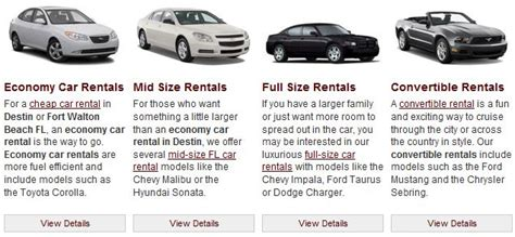 United States Rental Car Classes