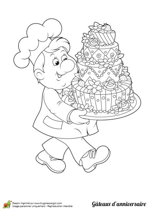 jeux de cuisine de gateaux d anniversaire dessin à colorier gâteau d anniversaire et pâtissier
