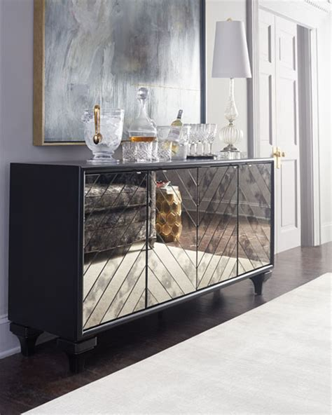 mirrored credenza sideboard furniture libby mirrored sideboard 4159
