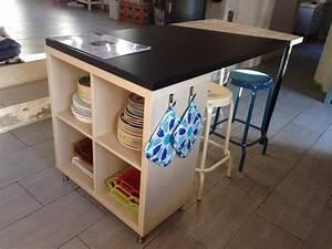 un nouvel ilot de cuisine avec kallax With ordinary meuble de cuisine ilot central 10 un ilot de cuisine moderne pas cher bidouilles ikea