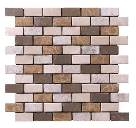 stoneskin 174 botticino marble peel n stick mosaic tile 1 quot x
