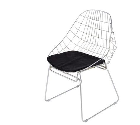galette de chaise maison du monde simple chaise orsay en mtal chrom avec coussin en tissu