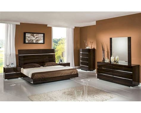 contemporary ebony lacquer bedroom set bset