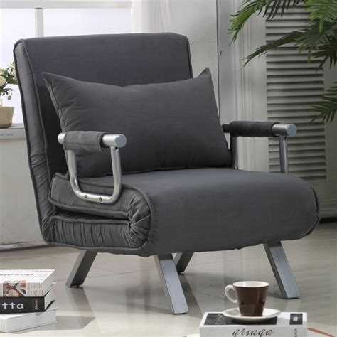 Armchair Bed Pillow by 155homcom Convertible Sleeper Armchair Foldable Sofa Bed