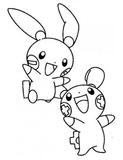 Legendary Kleurplaten by Plusle And Minun Legendary Coloring Page