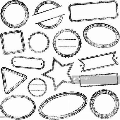 Rubber Blank Stamps Vector Stamp Graphic Illustrations