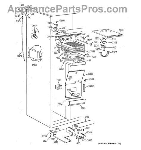 parts  ge ziswdcb freezer section parts appliancepartsproscom
