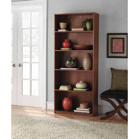 mainstays 5 shelf bookcase mainstays 5 shelf wood bookcase colors walmart