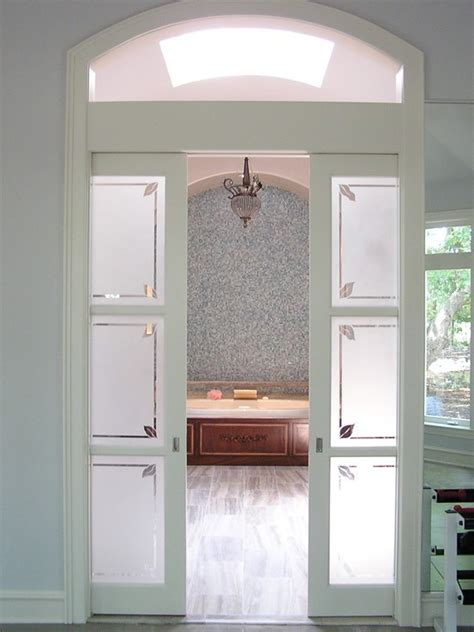 wood interior sliding frosted glass pocket doors buy