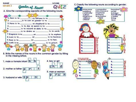 gender of nouns grade 3 worksheet jpg 640 215 480