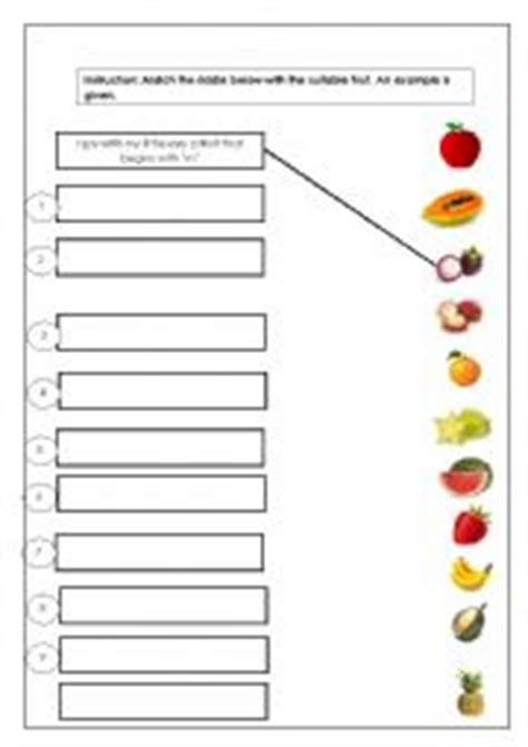 english worksheets year 3 kssr fresh fruits