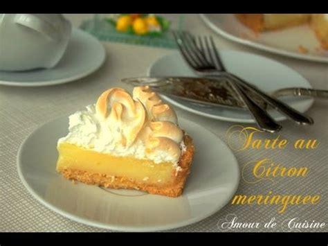 amour de cuisine recette facile de la tarte au citron meringuée