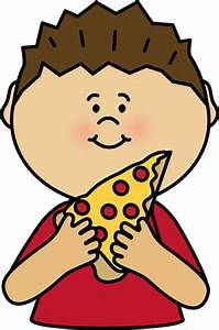 Boy Eating Pizza Clipart (13+)