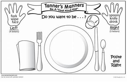 Manners Preschool Table Coloring Pages Placemat Printable
