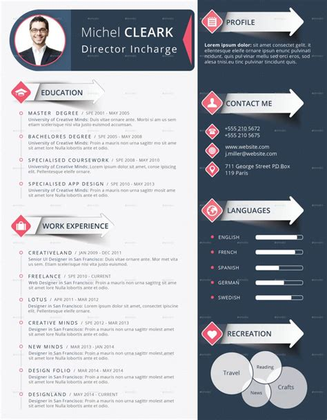 Corporate Cv Template by Corporate Infographic Resume Cv Modern Template Creative