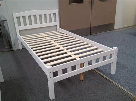 furniture place zara king single bed  white