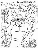 Smokey Coloring Pages Bear Fire Forest Printable Lake Colouring Bears Prevention Template National Park Azcoloring Ut Lakes Templates Popular Credit sketch template