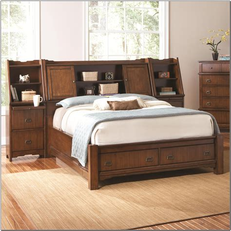 king storage bed  bookcase headboard beds home