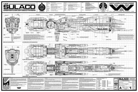 uss sulaco sci fi ship deckplans pinterest aliens