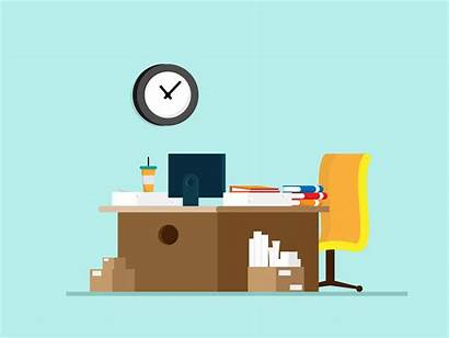 Office Table Place Vector Supplies Desk Designer
