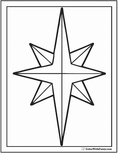 Coloring Star Pages Christmas Nativity Printable Pdf