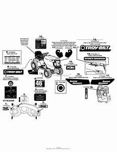 Troy Bilt 13ax60kh011 Super Bronco  2008  Parts Diagram